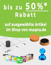 Sonderabverkaufsaktion bei maqna - bis zu 50% sparen