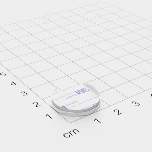 Metallscheibe mit Polsterschaum selbstklebend 3M-Haftgrund