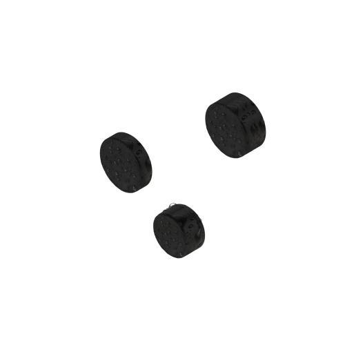 Scheibenmagnete gummiert
