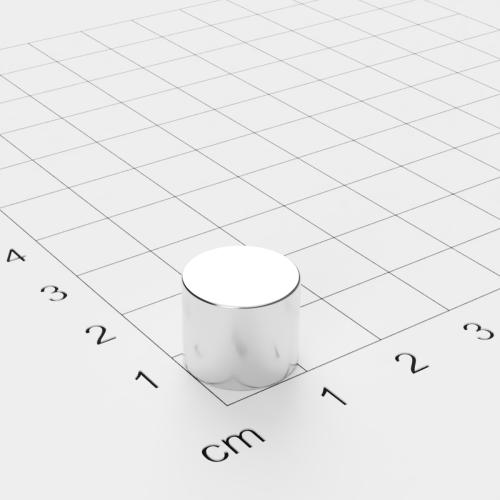 Neodym Scheibenmagnet, 12x10mm, vernickelt, Grade N45