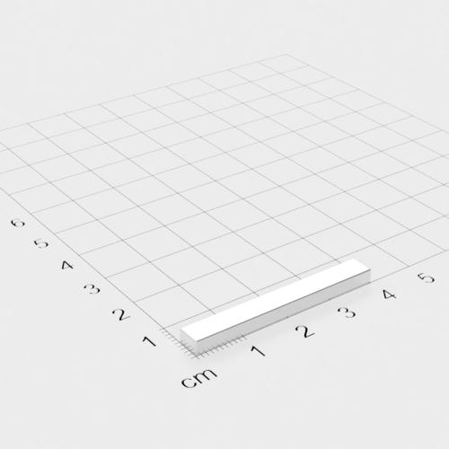 Neodym Quadermagnet, 40x5x3mm, vernickelt, Grade N52