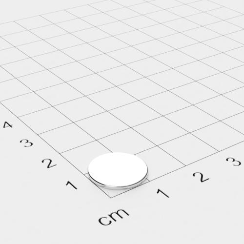 Neodym Scheibenmagnet, 13x1mm, vernickelt, Grade N45