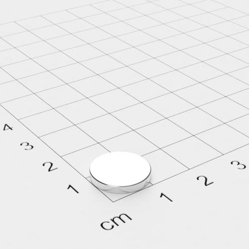 Neodym Scheibenmagnet, 13x2mm, vernickelt, Grade N45