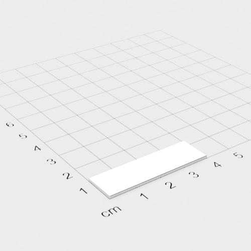 Neodym Quadermagnet, 40x12x1mm, vernickelt, Grade N42