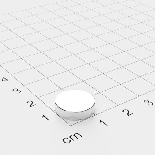 Neodym Scheibenmagnet, 13.5x3.5mm, vernickelt, Grade N45