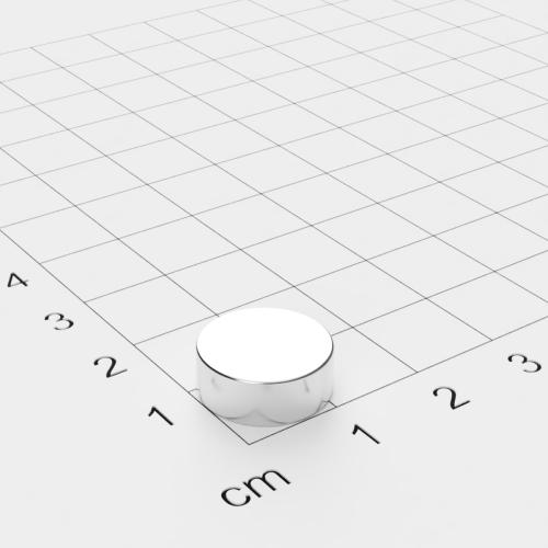 Neodym Scheibenmagnet, 13x5mm, vernickelt, Grade N45
