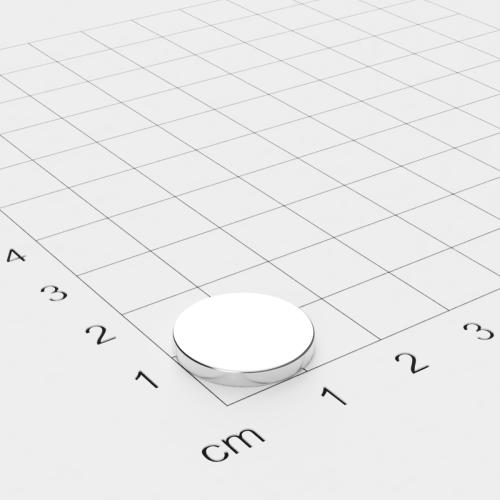 Neodym Scheibenmagnet 15x2mm, vernickelt, Grade N40