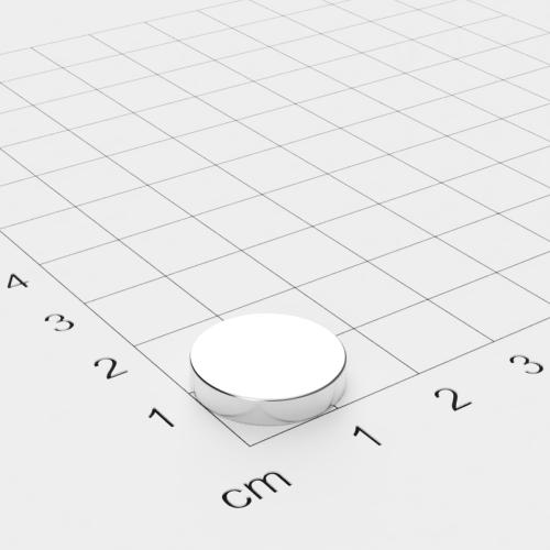 Neodym Scheibenmagnet 15x3mm, vernickelt, Grade N52SH