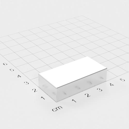 Neodym Quadermagnet, 40x20x10mm, vernickelt, Grade N52