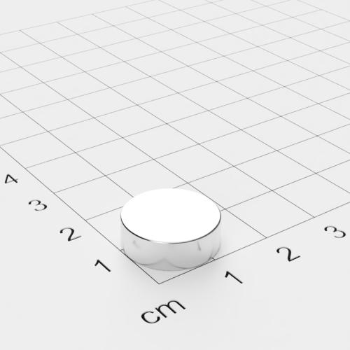 Neodym Scheibenmagnet, 15x5mm, vernickelt, Grade N42