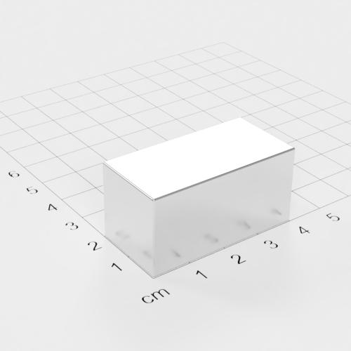 Neodym Quadermagnet, 40x20x20mm, vernickelt, Grade N52