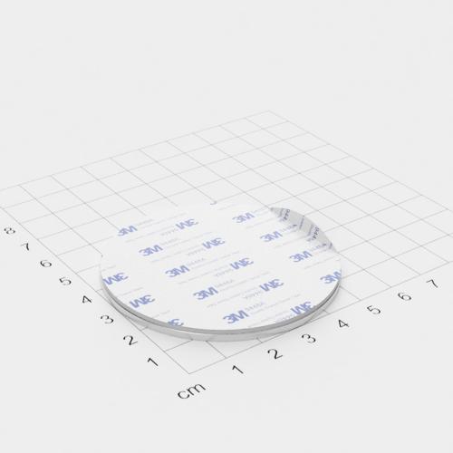 Metallscheibe 60x2mm selbstklebend 3M-Haftgrund Polsterschaum