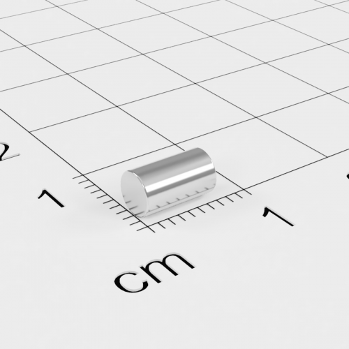 Neodym Stabmagnet, 4x7mm, vernickelt, Grade N45
