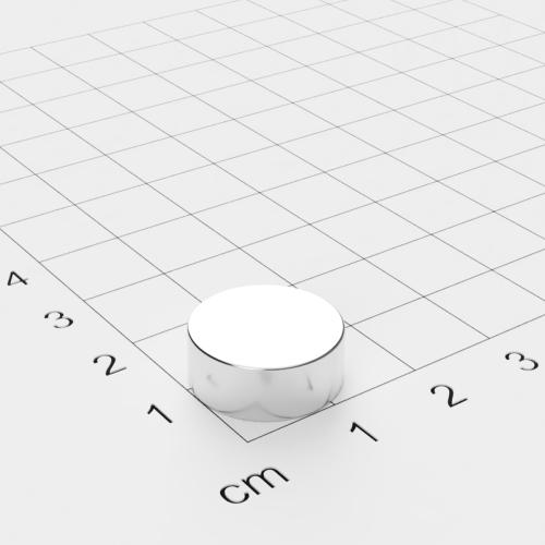 Neodym Scheibenmagnet, 15x6mm, vernickelt, Grade N52