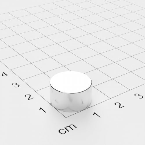 Neodym Scheibenmagnet, 15x8mm, vernickelt, Grade N42