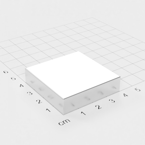 Neodym Quadermagnet, 40x40x10mm, vernickelt, Grade N45