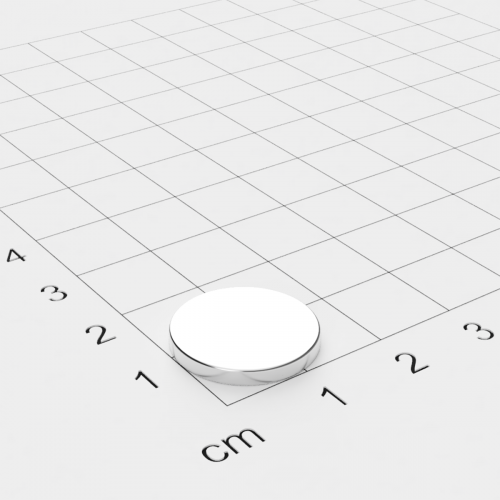 Neodym Scheibenmagnet 16x2mm, vernickelt, Grade N45