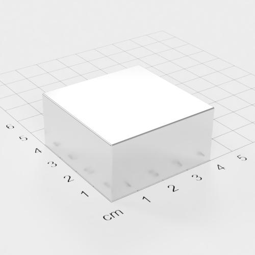 Neodym Quadermagnet, 40x40x20mm, vernickelt, Grade N45