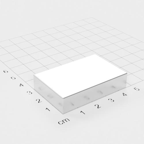Neodym Quadermagnet, 46x30x10mm, vernickelt, Grade N40