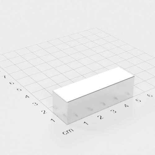 Neodym Quadermagnet, 50x15x15mm, vernickelt, Grade N48