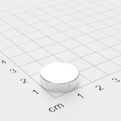 Neodym Scheibenmagnet 17x5mm, vernickelt, Grade N45