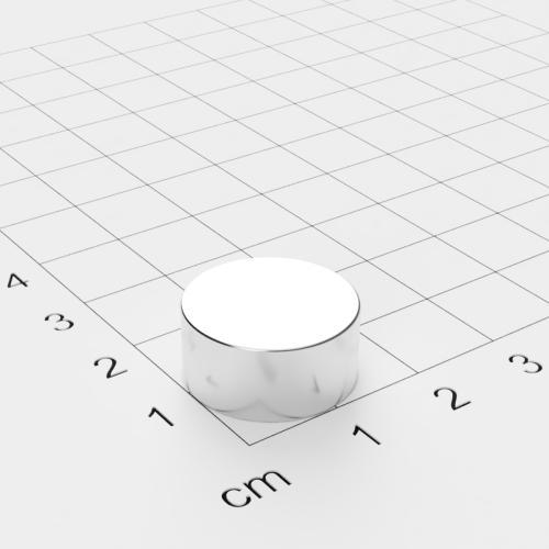 Neodym Scheibenmagnet 17x8mm, vernickelt, Grade N45