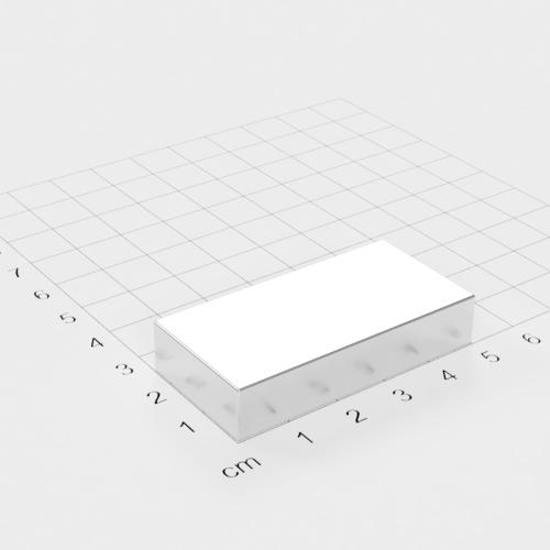 Neodym Quadermagnet, 50x25x10mm, vernickelt, Grade N45
