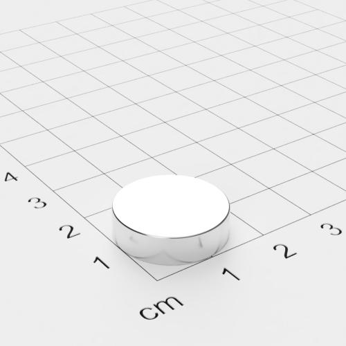 Neodym Scheibenmagnet, 18x5mm, vernickelt, Grade N45