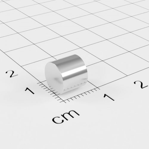 Neodym Stabmagnet, 7x8mm, vernickelt, Grade N35SH