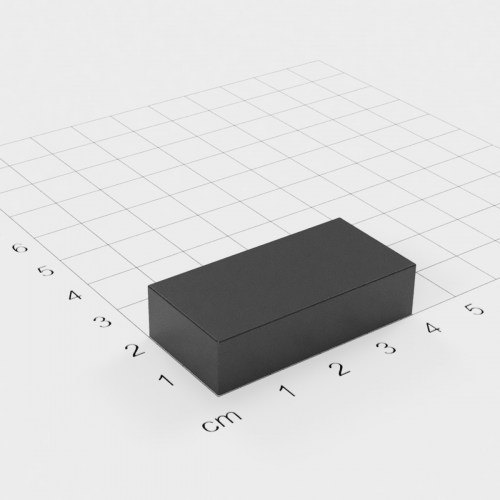 Ferrit Quadermagnet, 40x20x10mm, Grade Y30