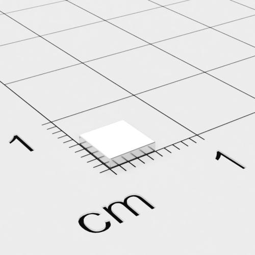 Neodym Quadermagnet, 5x5x1mm, vernickelt, Grade N45