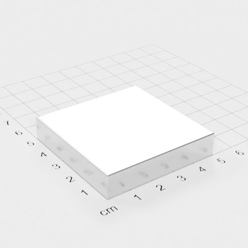 Neodym Quadermagnet, 50x50x10mm, vernickelt, Grade N52
