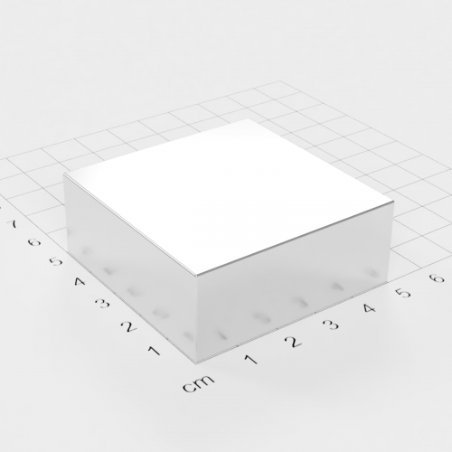 Neodym Quadermagnet, 50x50x20mm, vernickelt, Grade N45