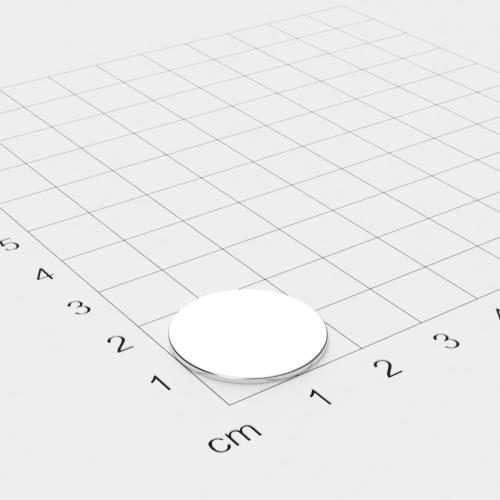 Neodym Scheibenmagnet, 20x1mm, vernickelt, Grade N35