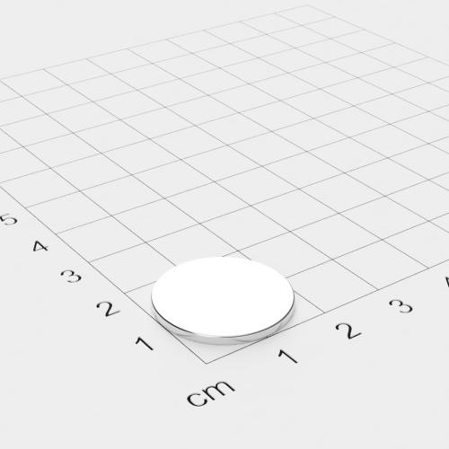 Neodym Scheibenmagnet, 20x1.5mm, vernickelt, Grade N35
