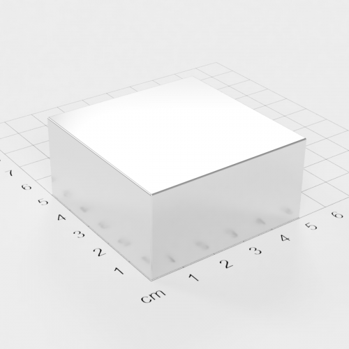 Neodym Quadermagnet, 50x50x25mm, vernickelt, Grade N52
