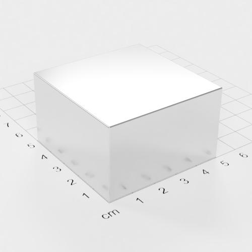 Neodym Quadermagnet, 50x50x30mm, vernickelt, Grade N52