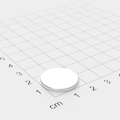 Neodym Scheibenmagnet, 20x2mm, vernickelt, Grade N45