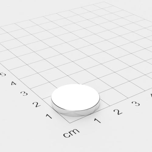 Neodym Scheibenmagnet, 20x3mm, vernickelt, Grade N45