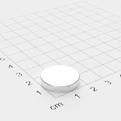 Neodym Scheibenmagnet, 20x4mm, vernickelt, Grade N42