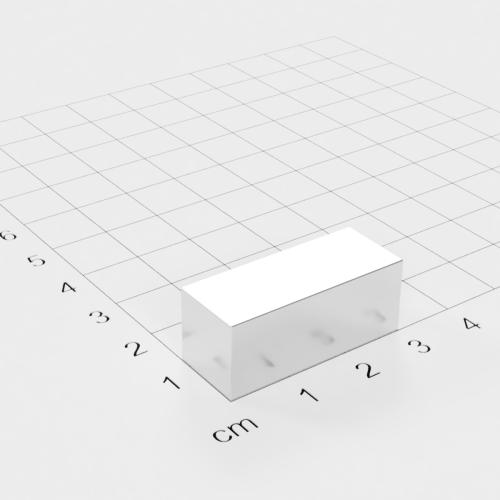 Neodym Quadermagnet, 30x12x12mm, vernickelt, Grade N52