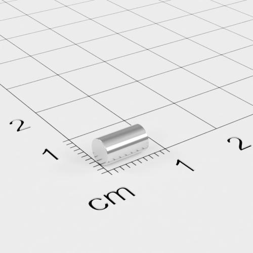 Neodym Stabmagnet, 7x4mm, vernickelt, Grade N35SH