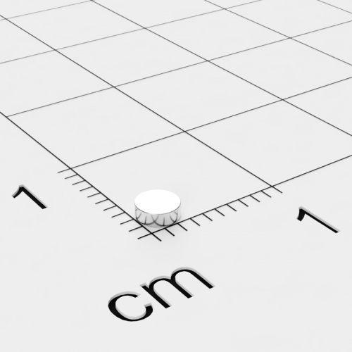 Neodym Scheibenmagnet, 3x1 mm, vernickelt, Grade N45