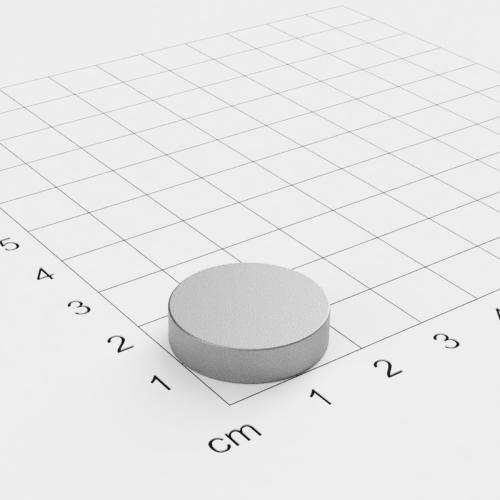 SmCo Scheibenmagnet, 20x5mm, vernickelt, Grade S280