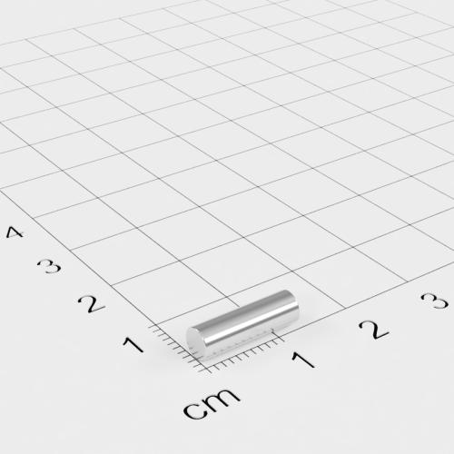 Neodym Stabmagnet, 4x13mm, vernickelt, Grade N42