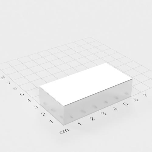 Neodym Quadermagnet, 60x30x15mm, vernickelt, Grade N42