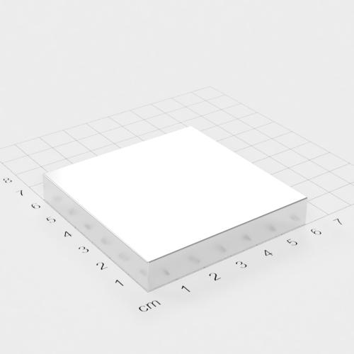 Neodym Quadermagnet, 60x60x10mm, vernickelt, Grade N45