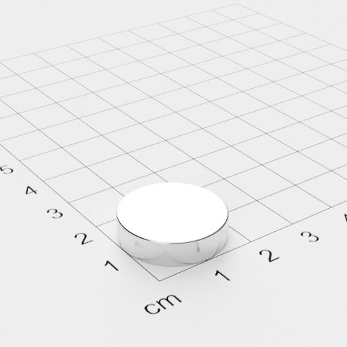 Neodym Scheibenmagnet, 20x5mm, vernickelt, Grade N52