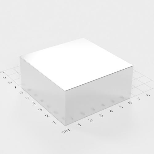 Neodym Quadermagnet, 65x65x30mm, vernickelt, Grade N52