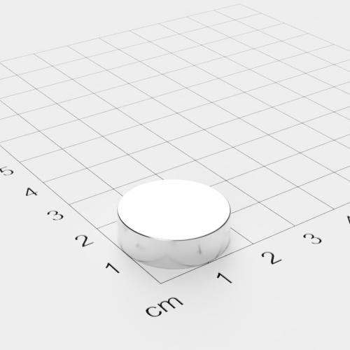 Neodym Scheibenmagnet, 20x6mm, vernickelt, Grade N42